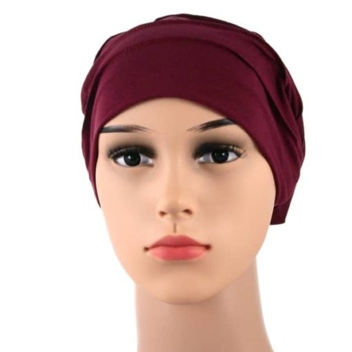 Diana-soft-pleated-cotton-satin-lined-beanie-sleapcap