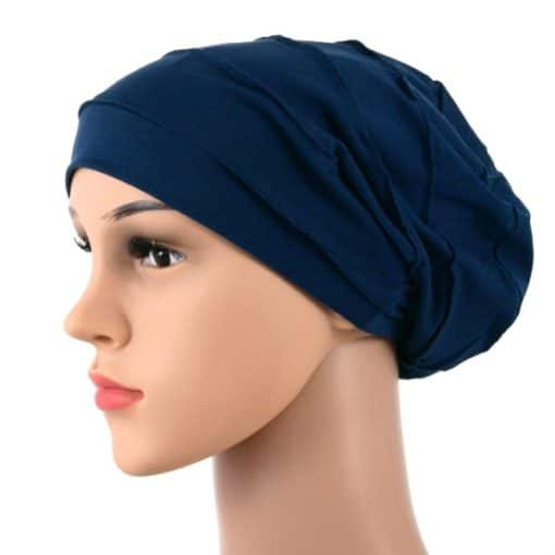 Diana-soft-pleated-cotton-satin-lined-beanie-sleapcap-021