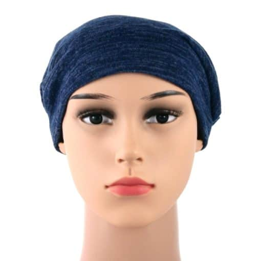 Elise-soft-knitted-cotton-satin-lined-beanie-sleapcap-008