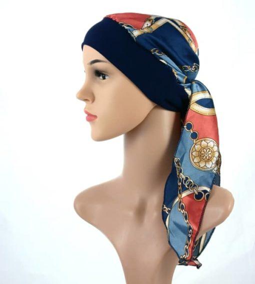Gloria simple satin pretied headscarf chemo turban