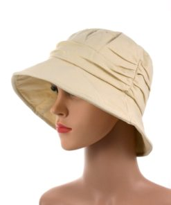 Jessica pleated chemo cotton summer hat 07
