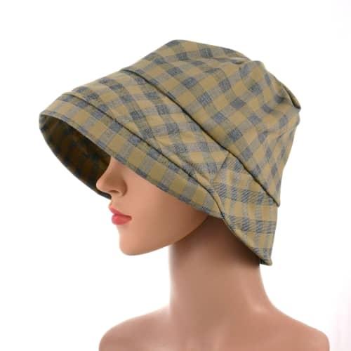 Larissa-plaid-chemo-soft-cotton-summer-hat
